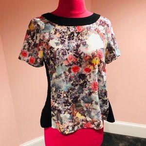 H&M floral snap top